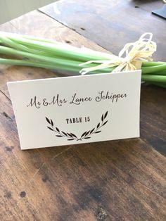 Wedding Place Cards Escort Weddings Elegant Folded