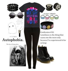 """""""Proud bisexual"""" by demon666-1 ❤ liked on Polyvore featuring Topshop, Dr. Martens, Forever 21, women's clothing, women's fashion, women, female, woman, misses and juniors"""
