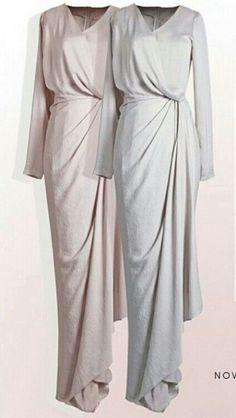 New dress brokat hijab simple ideas Muslim Fashion, Modest Fashion, Hijab Fashion, Fashion Dresses, Style Fashion, Hijab Gown, Hijab Dress Party, Dress Brokat, Kebaya Dress