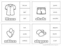 Clothes Clip It Cards Clothes Clips, Esl Resources, Kindergarten Learning, All Covers, Emergent Readers, Make It Work, Some Fun, Education, Maths
