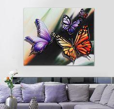 #PINTDECOR #quadro #farfalle #butterfly #design #arredo #arte #madeinitaly #flowers #tela #collezione2016 #colori #primavera #newcollection #interiordesign