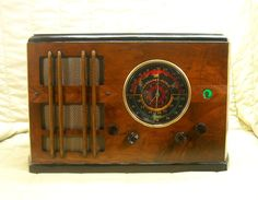 Old Antique Wood Fairbanks Morse Vintage Tube Radio - Restored & Working w/ Eye!