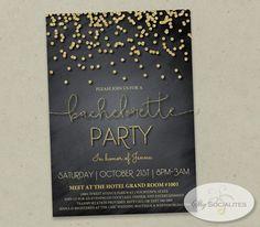 Gold Glitter Confetti Bachelorette Party by ShySocialites on Etsy