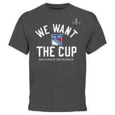 Men's New York Rangers Charcoal 2015 Stanley Cup Playoffs We Want the Cup T-Shirt