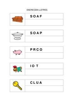 Fitxes per treballar la consciència fonològica Language, Classroom, Writing, Reading, School, Preschool Learning Activities, Reading Comprehension, Reading Comprehension, Kids Rewards