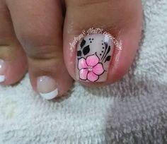 Cute Toenail Designs, Toe Nail Designs, Cute Toe Nails, Cute Toes, Pedicure Nail Art, Toe Nail Art, Hair And Nails, My Nails, New Nail Art Design