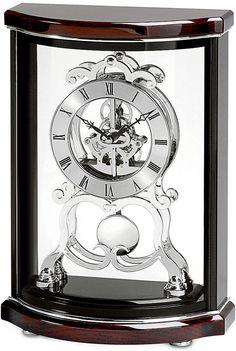 Bulova Black Mahogany Finish Table Top Clock B2025