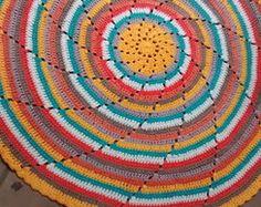 Tapete mandala em crochet