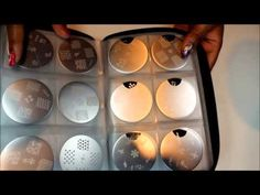 Nail Art Stamping Plates Storage Organizer