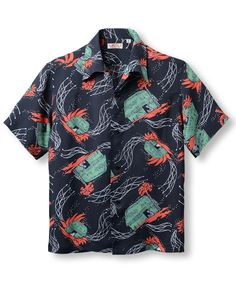 Style No. SS36823 (short sleeve) 「HAWAIIAN VILLAGE」 119) BLACK Vintage Shirts, Vintage Outfits, Men's Vintage, Vintage Clothing, Hawaiian Wear, Surf Design, Bowling Shirts, Floral Print Shirt, Tailored Shirts