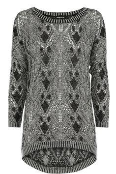 Geo Pointelle Two Tone Jumper: We've got a knitwear craving in this weather, and this jumper fits the bill nicely! Wear with leather leggings for a chic look. Cold? What cold!