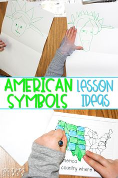 Check out these fun and engaging lesson ideas for teaching about American symbols in kindergarten and first grade! Shared reading, interactive writing, crafts, and so much more!