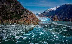 Glacier Bay National Park   Glacier-Bay-National-Park-Alaska-mountains-glaciers-ice-river ...