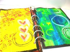 watercolor art journal pages