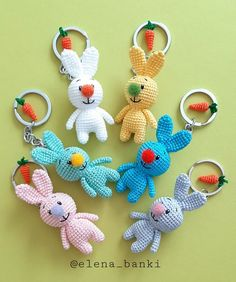 Diy And Crafts, Crochet Necklace, Easter, Photos, Instagram, Jewelry, Key Hangers, Rabbits, Plushies