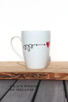Love Coffee Mug by GraceWordsbyMelanie on Etsy, $15.00