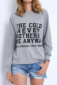Cupshe Warm It Up Letter Printing Sweatshirt