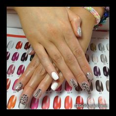 Pina Parie handpainted Gel nails by Emma Donaldson at EMMAculate Beauty Enniskillen