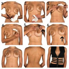 Secret Breast Lift Tape Size A to E Cup is an alternative bra solution that allows you to wear backless, strapless or low plunge fashions with complete confidence. Now you CAN go braless!    It's so easy to use - check out how!    #breastlift #booblift #braless #strapless #backless #nobra