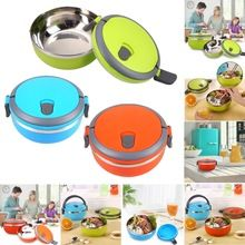 High Quality Stainless Steel Thermal Insulated Lunch Box with Handle Bento Food Picnic Container Kids Container Tableware(China (Mainland))