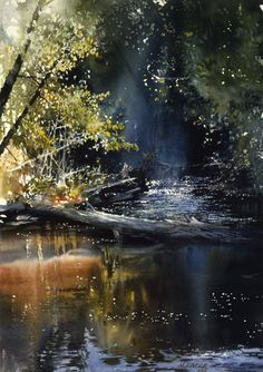 Morning on the Yellow Dog River by Nita Engle