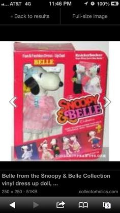 Snoopy and Belle 1980's dolls with outfits I'VE LITERALLY BEEN TRYING TO REMEMBER THE NAME OF THESE TOYS FOR ALMOST 30 YEARS!!!