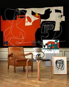 "ulfgbohlin: """"1960 tapestry by Le Corbusier, a work specifically created for the Sydney Opera House "" """