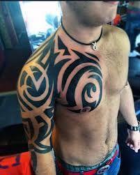 50 Tribal Chest Tattoos For Men – Masculine Design Ideas – Man Style Tribal Chest Tattoos, Chest Tattoos For Women, Tribal Tattoos For Men, Tribal Tattoo Designs, Tattoos For Guys, Body Art Tattoos, Sleeve Tattoos, Hot Tattoos, Future Tattoos