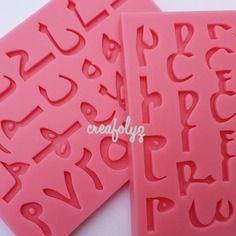 Rare 2 moule en silicone alphabet + chiffre arabe pour deco fimo ou porcelaine froide plâtre résine ...