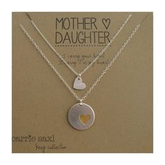 Mother Daughter Necklace Set  sterling silver  gold by carriesaxl