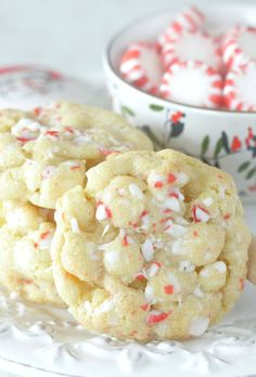 White Chocolate Peppermint Cookies are the perfect cookie recipe dressed up for the holidays with white chocolate chips and crushed peppermint candies.