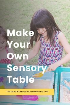make your own sensory table