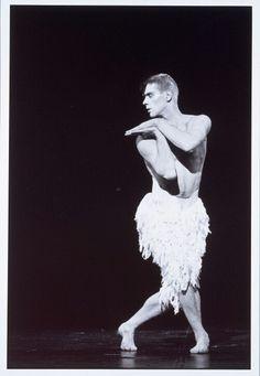 Adam Cooper as the Swan in Bourne's all male cast of Swan lake