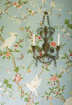 Vintage English wallpaper. via El'lefébien.