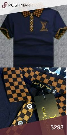 LOUIS VUITTON SHIRT!!! LUXURY LOUIS VUITTON SHIRT!!!  BRAND NEW!!!  COLOR - BLUE!!!  AVAILABLE SIZE: XL (FITS LIKE L) XXL (FITS LIKE XL)!!!  CHECK MY LISTINGS FOR OTHER GREAT ITEMS!!!              Ignore: casual denim Jean jeans boot cut skinny straight zip jacket tru tshirt t vneck v neck crew polo button up dress shirt Louis Vuitton Shirts