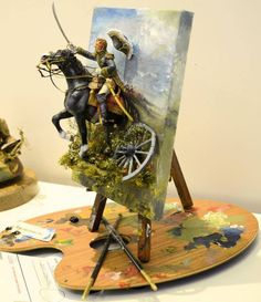 Michigan Toy Soldier Company via Michigan Toy Soldier's FB page Military Diorama, Military Art, Wow Art, Toy Soldiers, Scale Models, Amazing Art, Awesome, Art Projects, Arts And Crafts