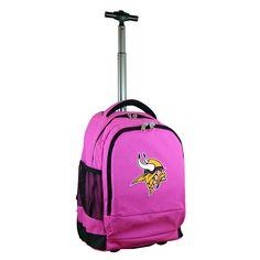 Denco Sports Mojo Minnesota Vikings Premium Nylon Wheeled Backpack
