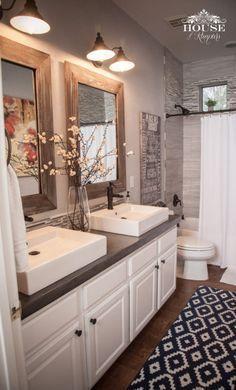 Image result for farmhouse master bathroom ideas