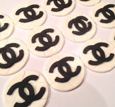 Coca Chanel Cake Toppers fondant Gum Paste Cupcake by Demicakes