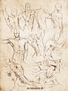 Male body study vi+ by jinx-star on 人 體 練 習 мужское тело, рисов Drawing Body Poses, Body Reference Drawing, Anatomy Reference, Art Reference Poses, Drawing Tips, Drawing Tutorials, Human Body Drawing, Drawing Practice, Painting Tutorials