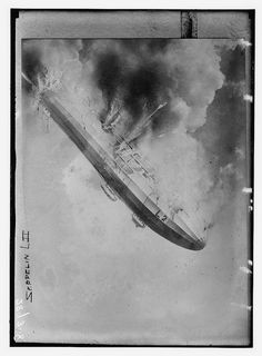Zeppelin L II  exploded and all on board were killed. (LOC) by The Library of Congress, via Flickr