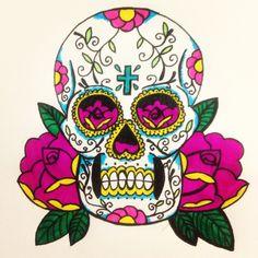 My drawing of a sugar skull