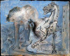 Faun, horse and bird - Pablo Picasso, 1936