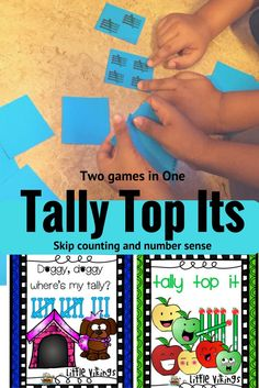 Two levels of game play help students develop the ability to use skip counting by 5s with tallies and to recognize which is the bigger quantity with both tallies and numbers.