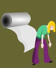 Au bout du rouleau: être épuisé  (exhausted)