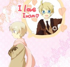 Io@(^し^)- Hetalia - Russia / America<< don't ship it but this is cute