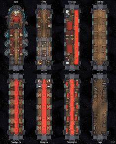 [25x31] Eberron Lightning Rail : dungeondraft Fantasy Rpg Games, Fantasy Map, Dungeon Tiles, Dungeon Maps, Dungeons And Dragons 5e, Dark Dungeons, Grid, Train Map, Star Wars Spaceships