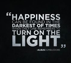 Turn on the light.