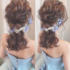 Wedding Hair Down hair style. Bride Hairstyles For Long Hair, Messy Hairstyles, Wedding Hairstyles, Hair Arrange, Wedding Hair Down, Stylish Hair, Hair Art, Hair Designs, Flowers In Hair