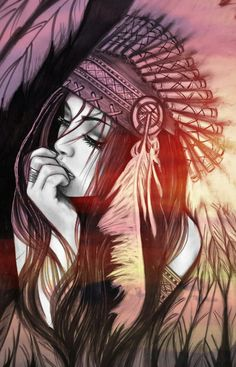 Native American Drawing, Native American Tattoos, Native Tattoos, Warrior Tattoos, Native American Artwork, American Indian Girl, Native American Girls, Native American Pictures, Pencil Art Drawings